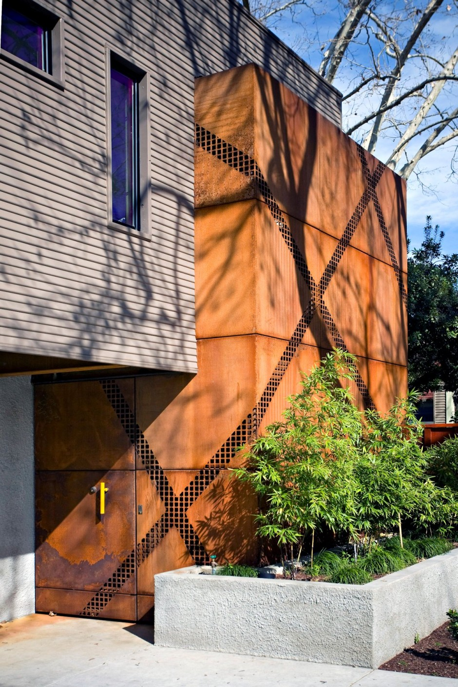 The Anderson Pavilion by Miller Design Corten Facade