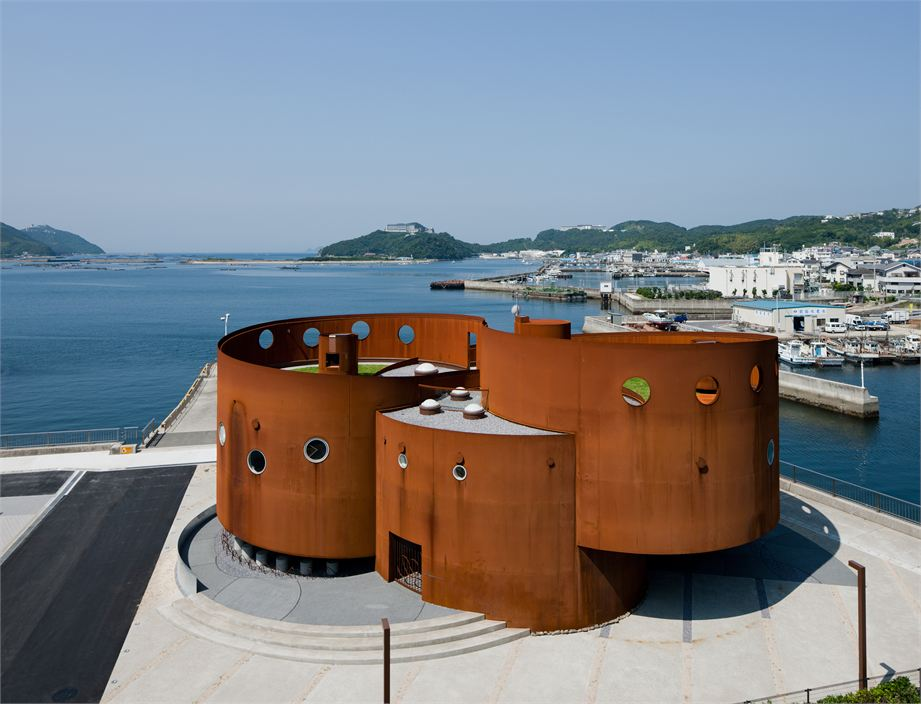 The Fukura Port in Japan corten Material Design