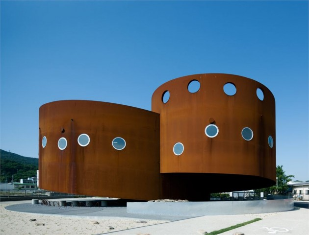 The Fukura Port in Japan corten Material