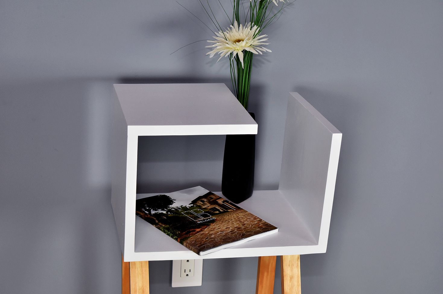 Two tone modern nightstand
