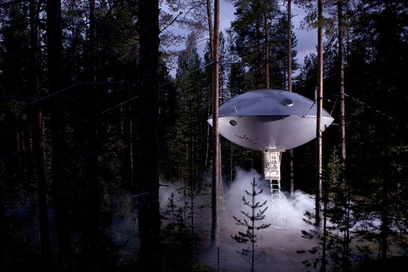 Ufo Room part from TreeHotel design