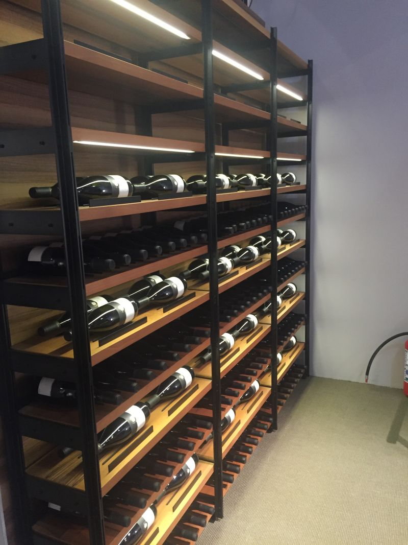 Wall unit storage for wine