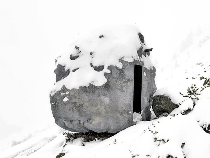 Winter Boulder Cabin