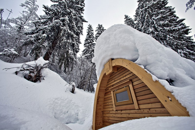 Winter Holiday Hideway PODhotel by Pod Design