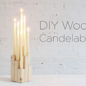 How To Make A Wood Candelabra Video