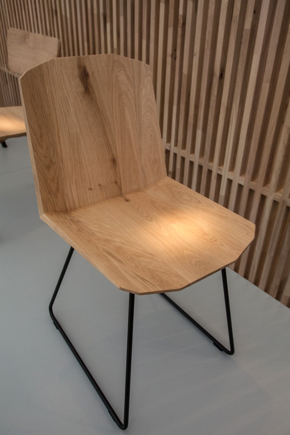 Wood and wire frame chair