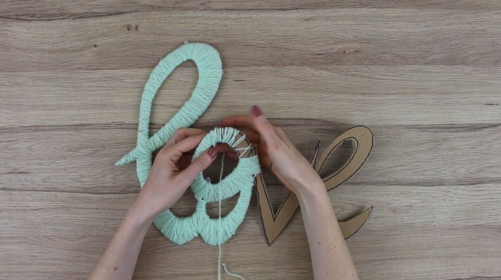A Little Yarn And Some Cardboard Equals Charming Wall Art
