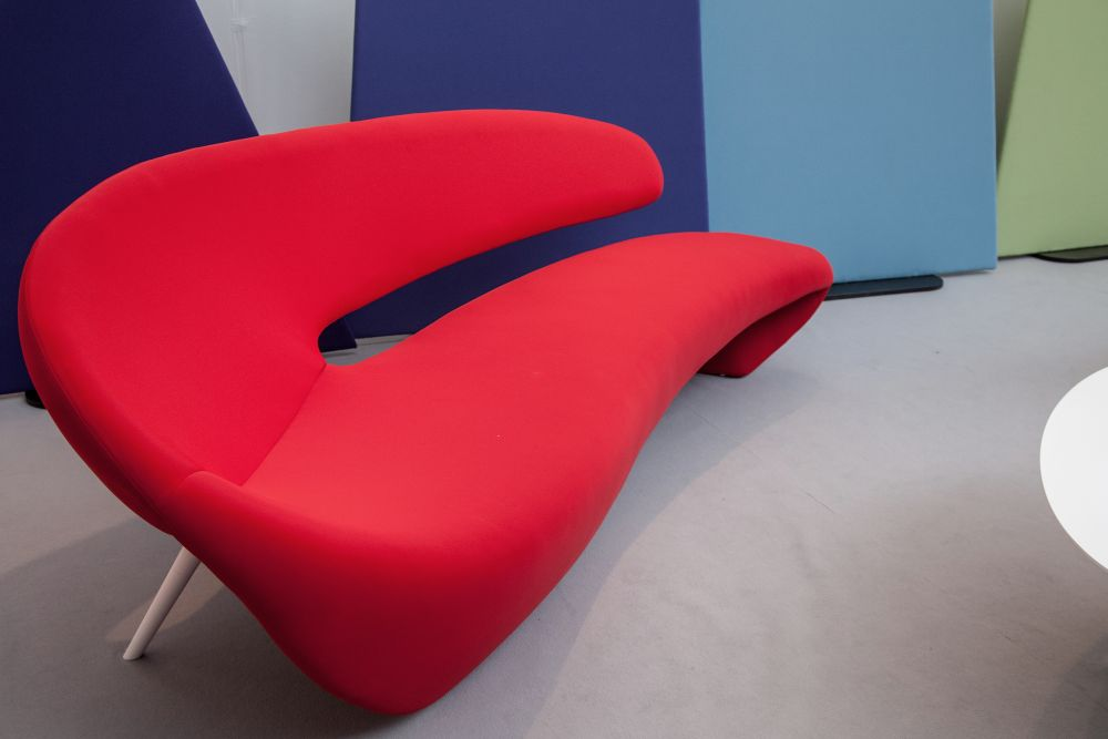 Yume Red Curved Sofa