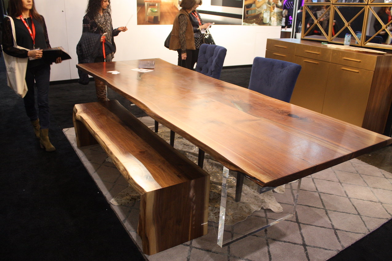 camilla live edge table bench