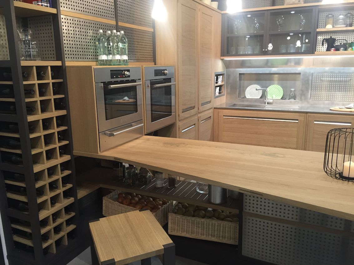 kitchen corner cabinet wine rack