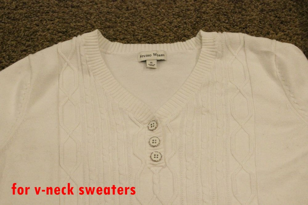 sweater that has a center focal point