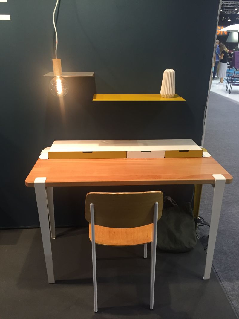 tiptoe desk with custom legs