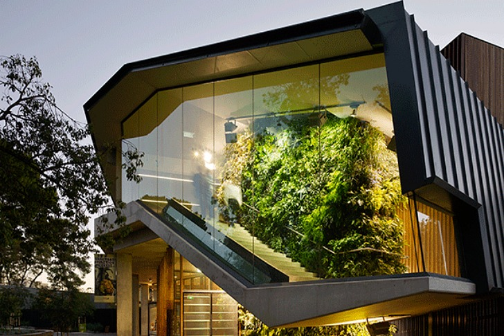 Adelaide Zoo Entrance Boasts Living Walls Vertical Columns