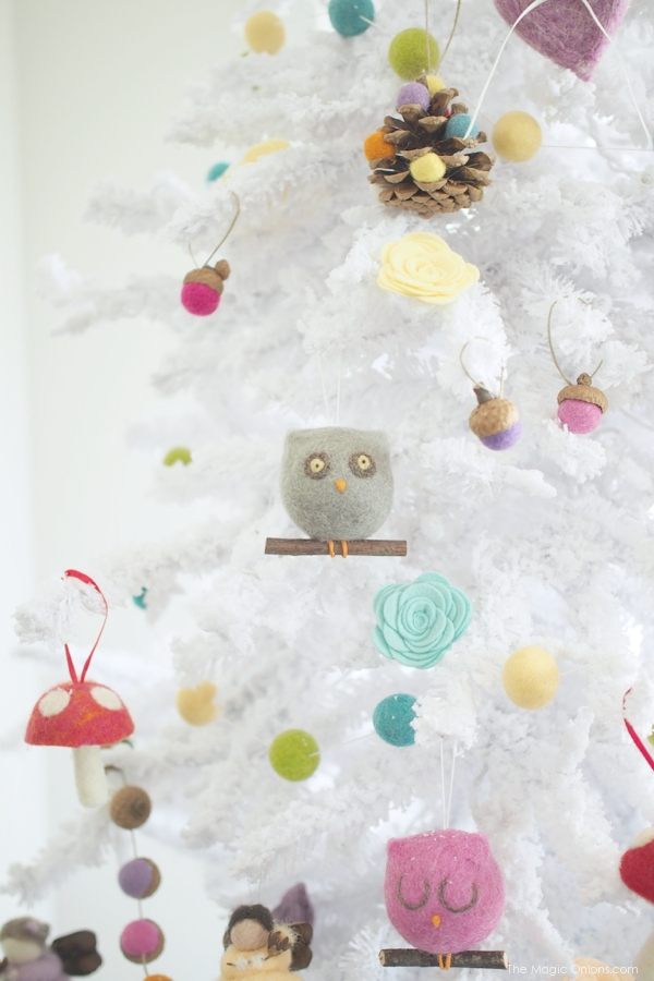 Adorbale diy felt christmas tree decoration ideas