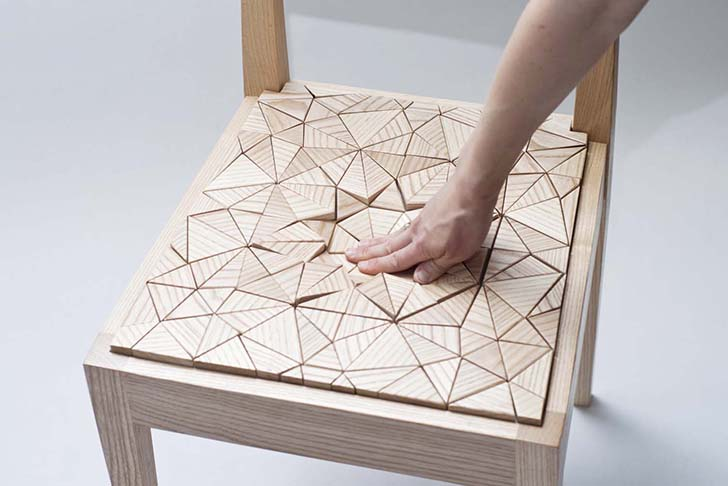 Annie Evelyn Chair & Unusual Chair Designs With Interactive Seats