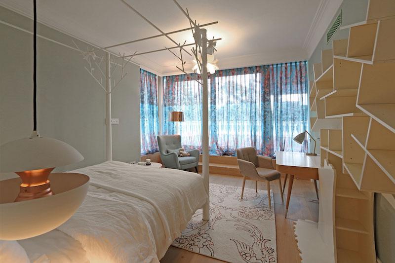 Apartment ST bedroom tree motif