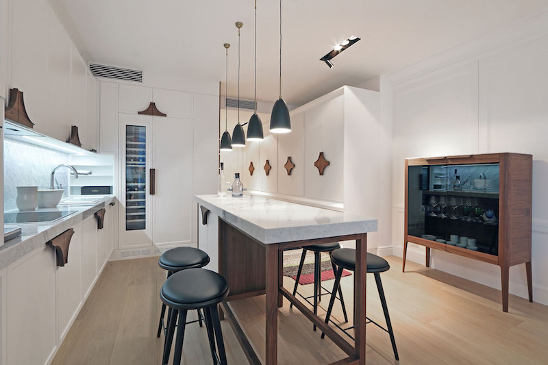 Apartment ST kitchen island