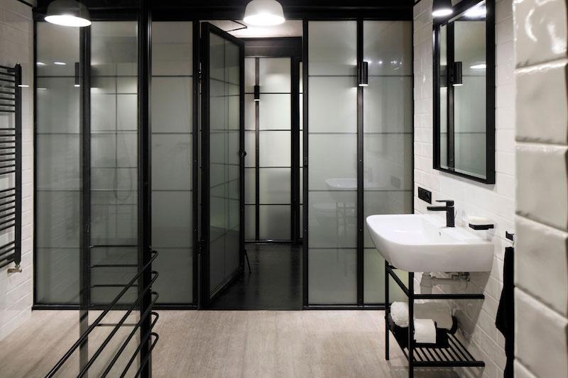 Apartment UV bathroom interior