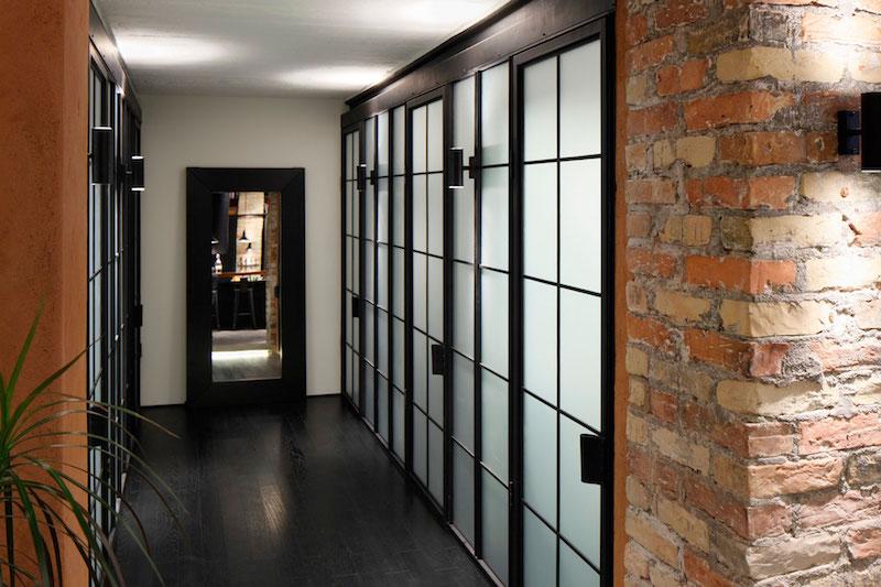Apartment UV hallway screens