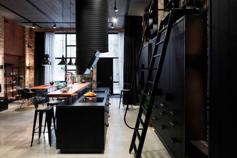 Apartment UV kitchen island