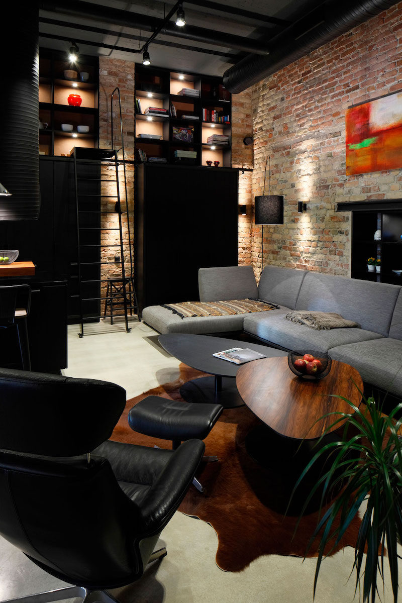 Cozy Apartment With Industrial and Scandinavian Accents