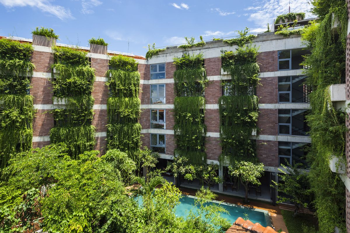 Atlas Hotel Hoian courtyard by Vo Trong Nghia Architects