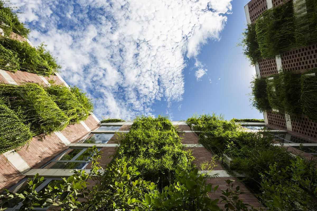 Atlas Hotel Hoian from Vo Trong Nghia Architects with Vertical Gardens on Facade View