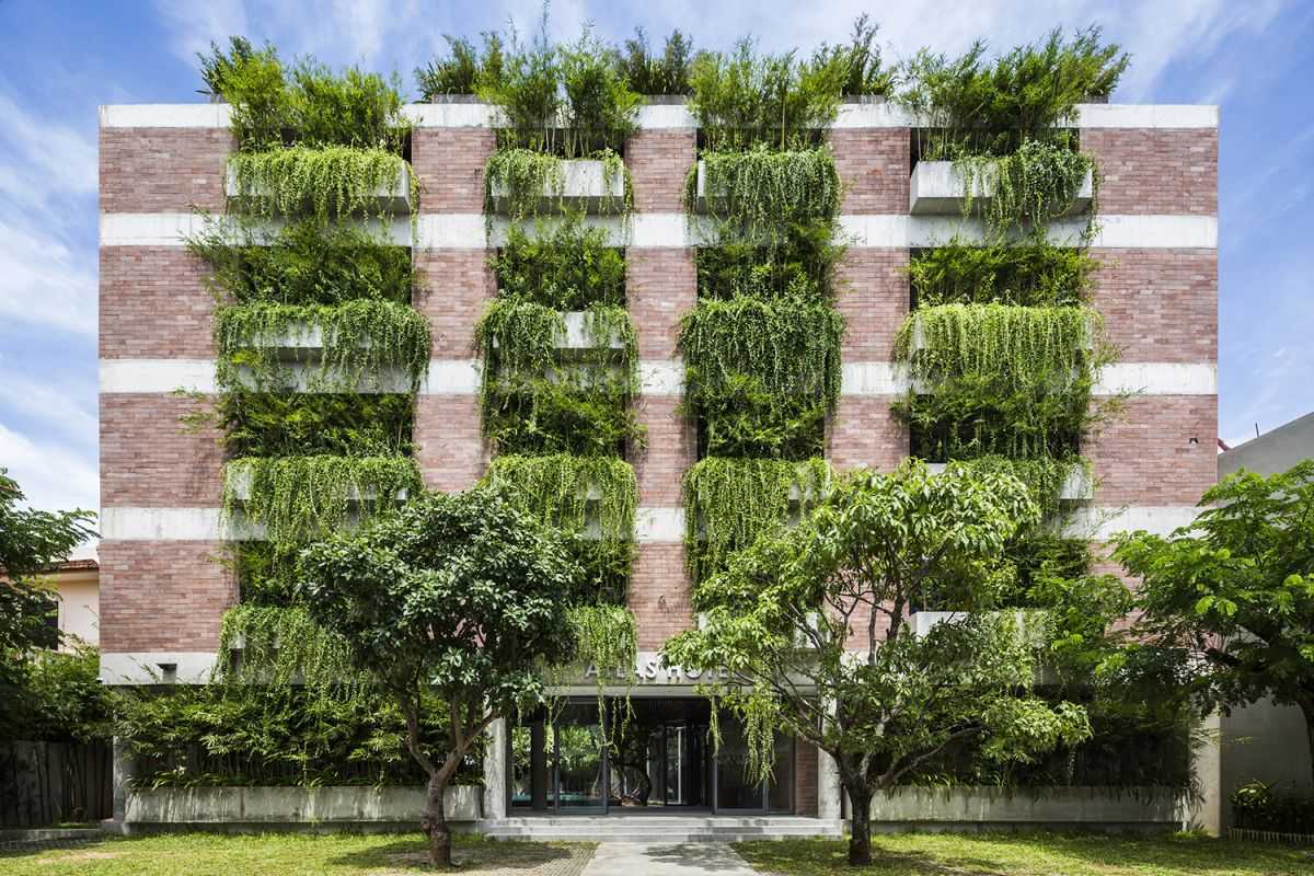 Atlas Hotel Hoian from Vo Trong Nghia Architects with Vertical Gardens on Facade