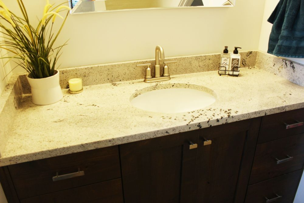 Bathroom countertop marble vanity