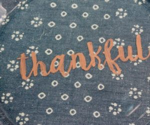 DIY Copper Writing Thanksgiving Dinner Plates