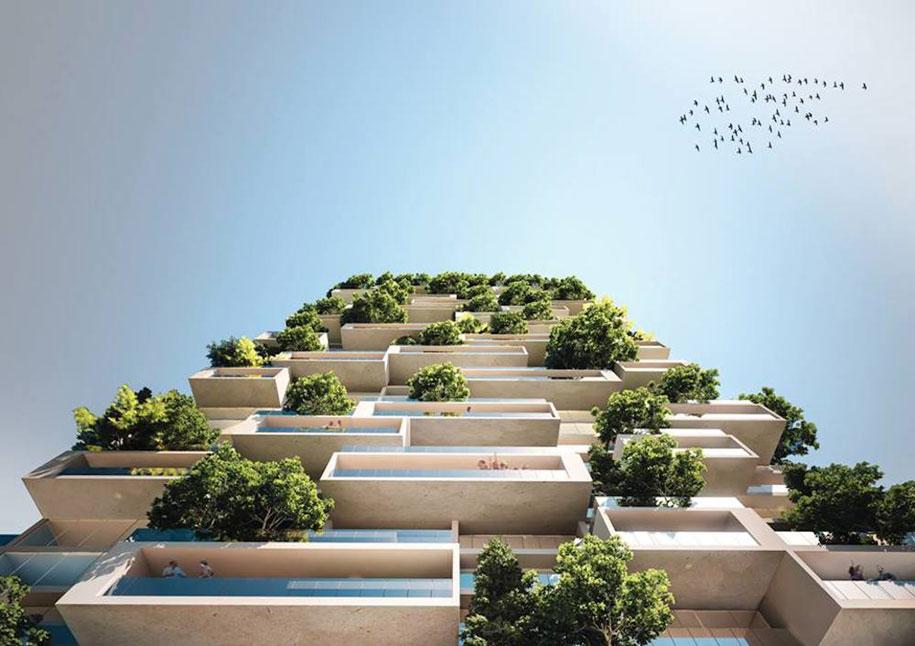 Bosco Verticale Apartments Building Balconies