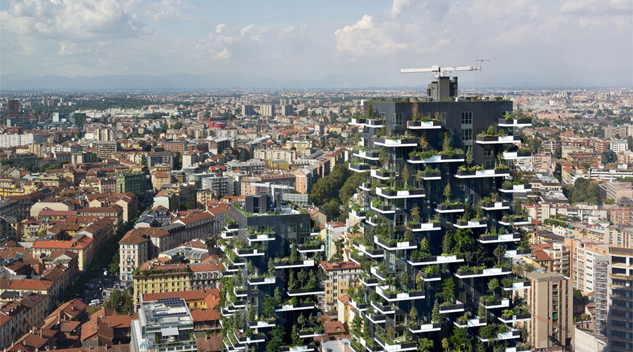 Bosco Verticale Apartments Building Green
