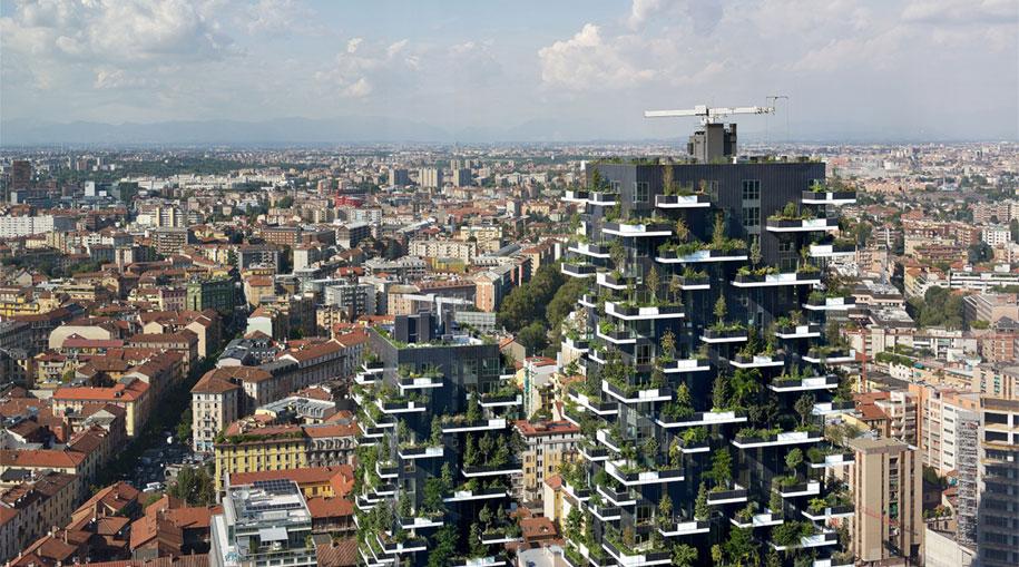 Bosco Verticale Apartments Building Green