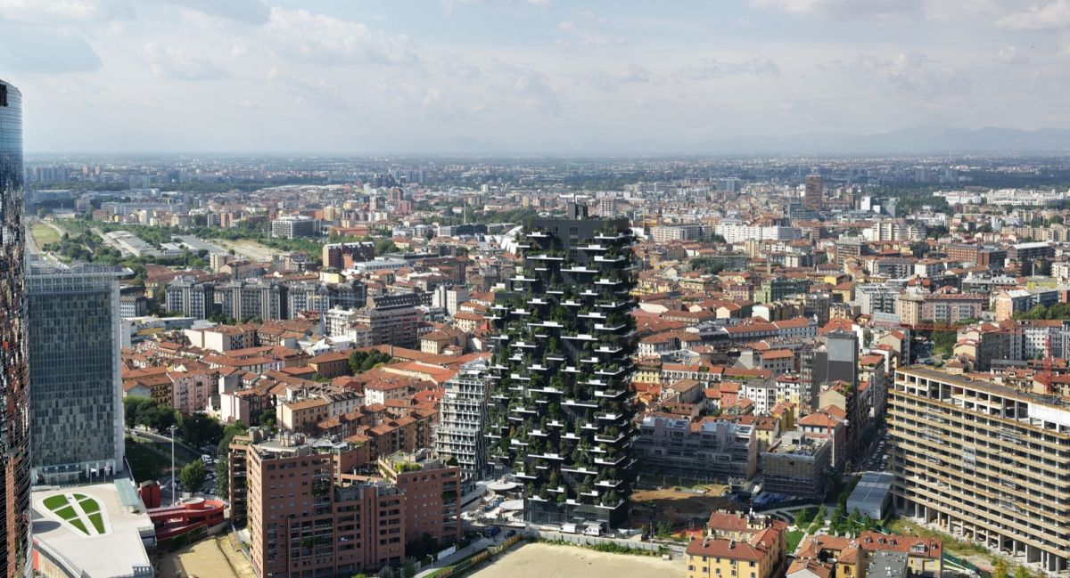 Bosco Verticale from Boeri Studio City
