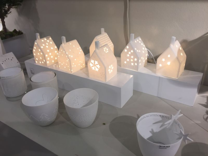 christmas decoration ideas small floor or table house led lighting - Ceramic Christmas Decorations