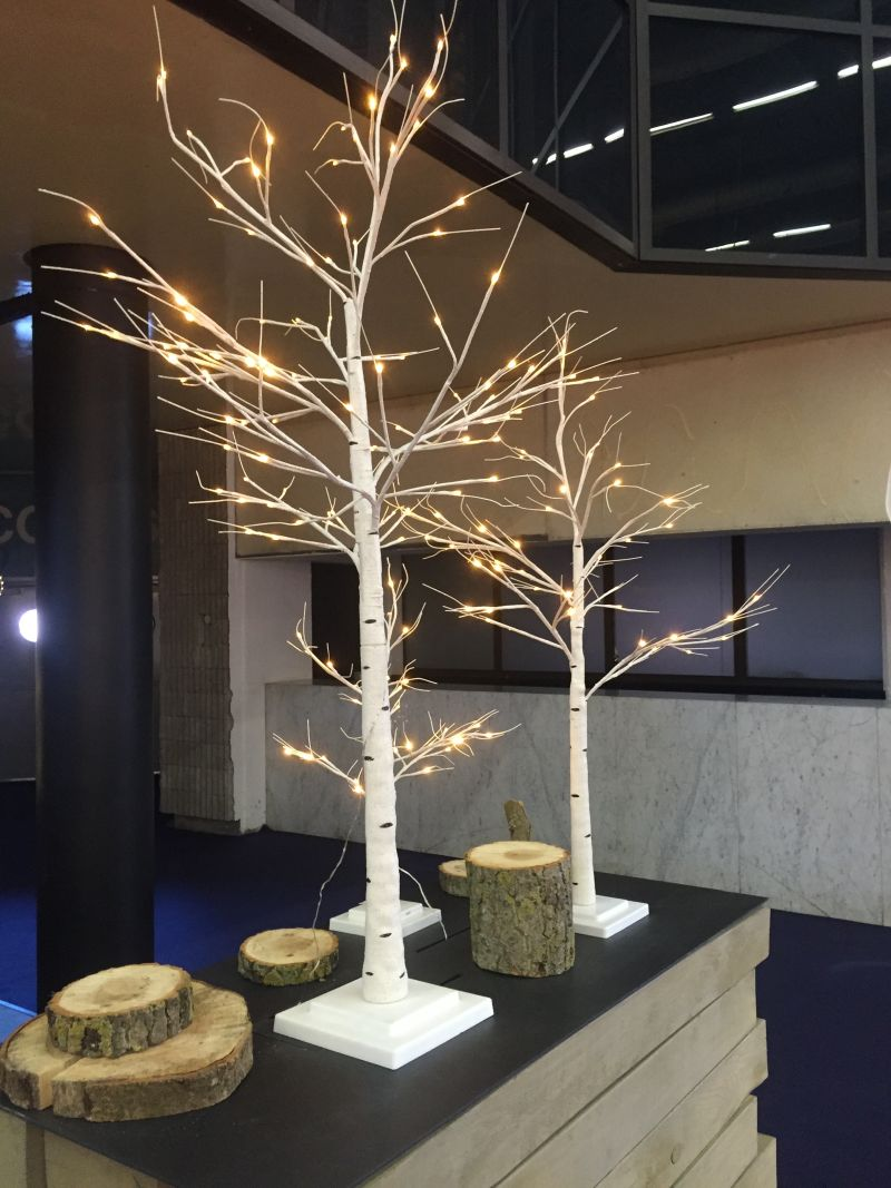 Christmas Decoration Ideas - tree branch with LED lights