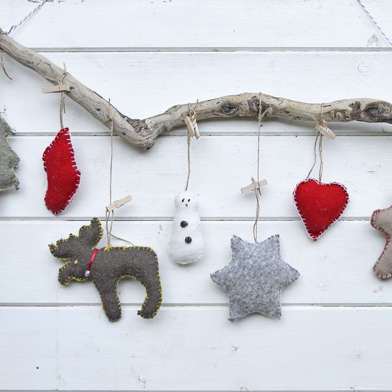 Christmas Ornaments upcycled