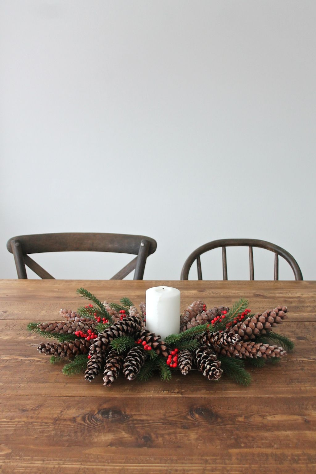 Christmas Pinecones Centerpiece