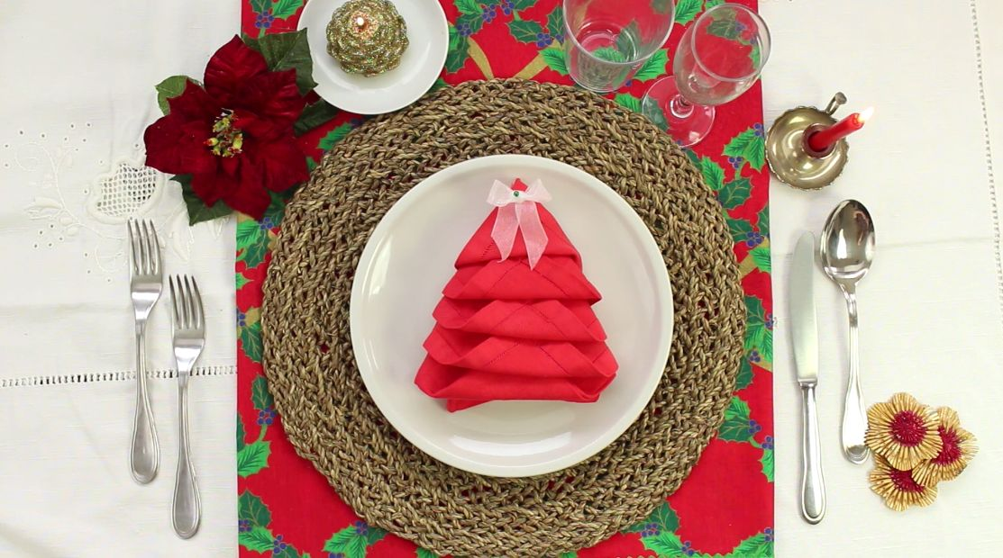 Quick And Easy Christmas Tree Napkin Fold Home