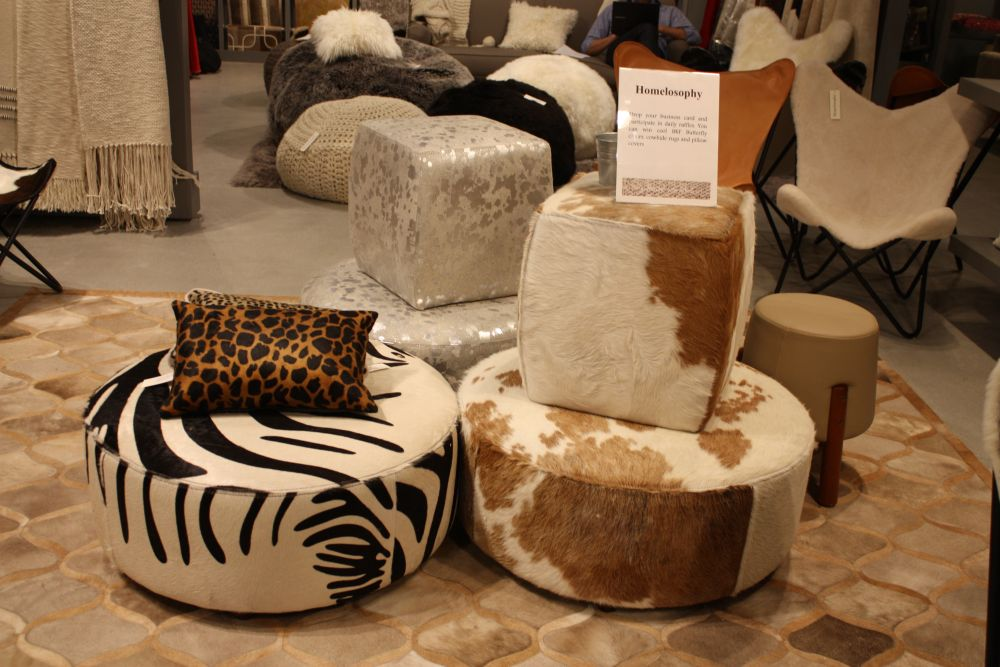 Good ... Collection Of Cowhide Ottomans Photo Gallery