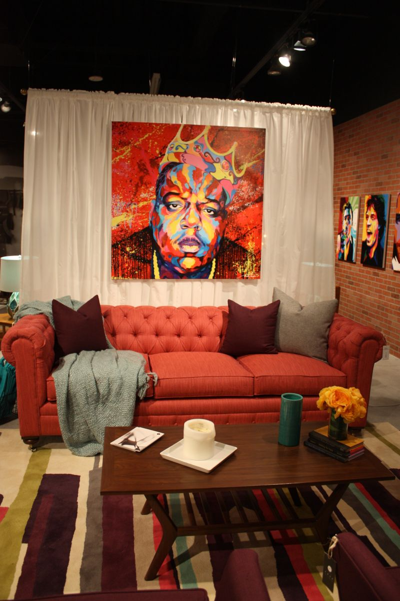 Colorful Celebrity Jay Z poster on wall