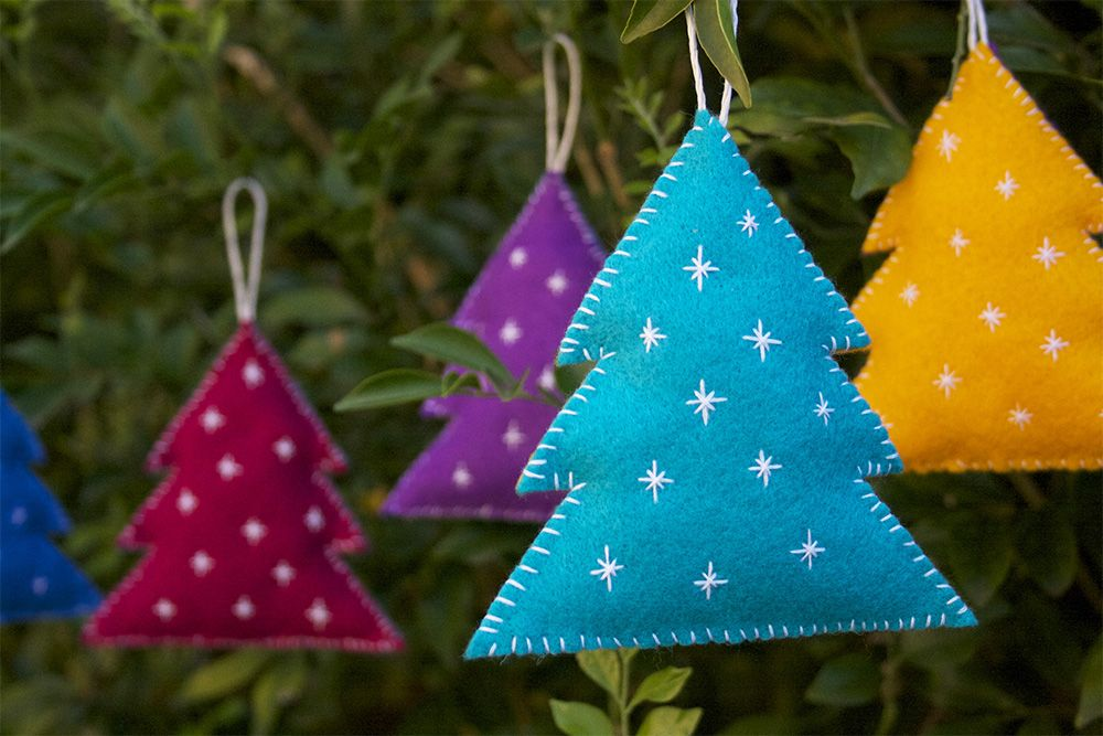 Colorful Decorative Felt Christmas Tree ornaments