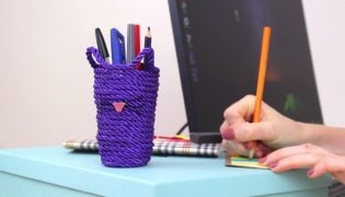 Make A Custom Kitty Rope Pencil Holder