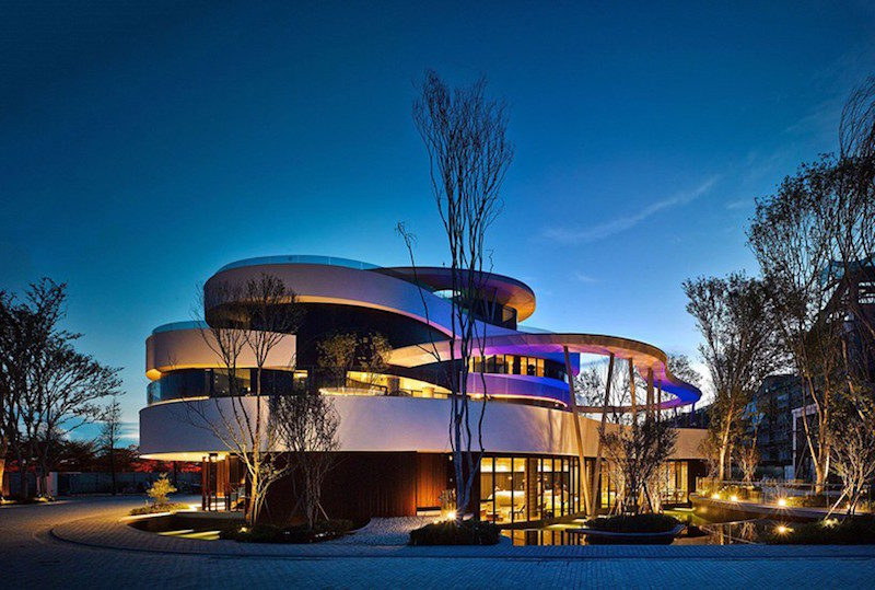 Community Clubhouse With A Ribbon Facade Inspired By Nature
