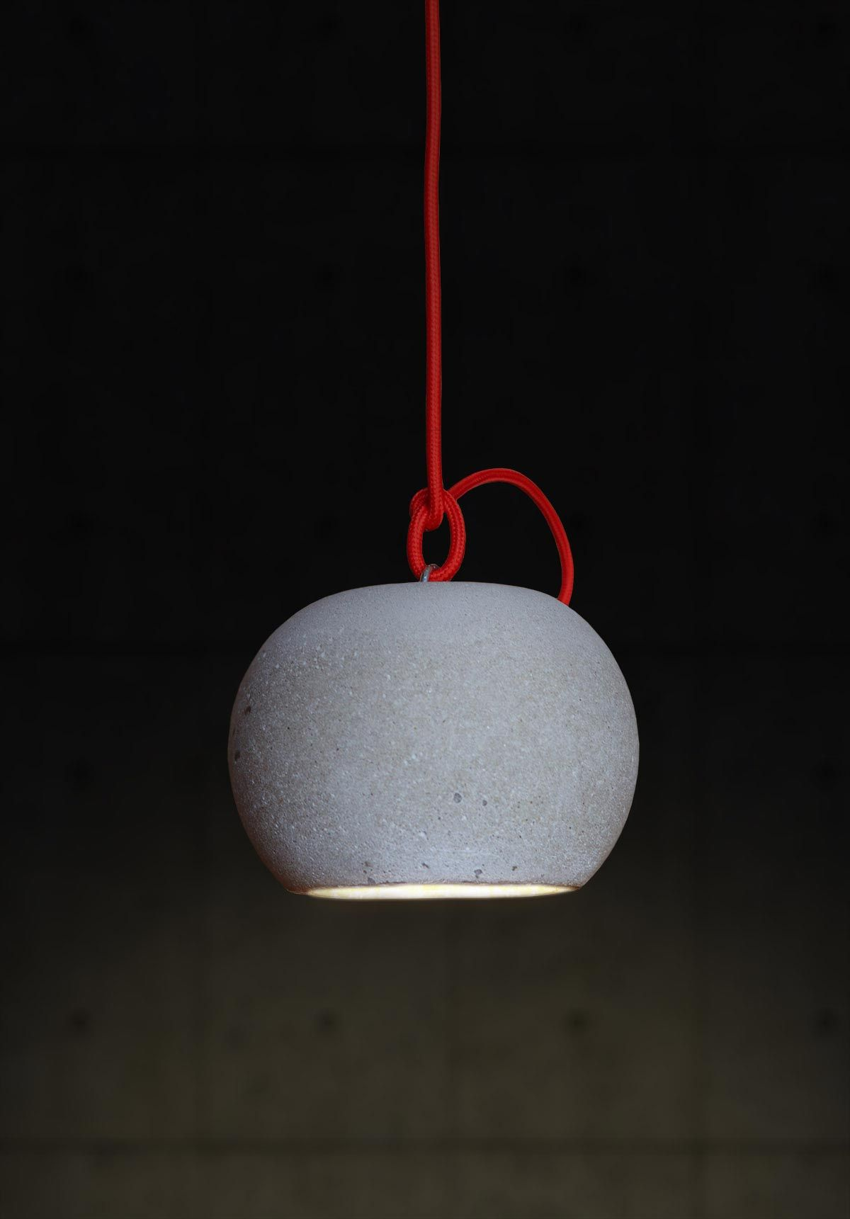 Concrete Ball Hanging Lamp