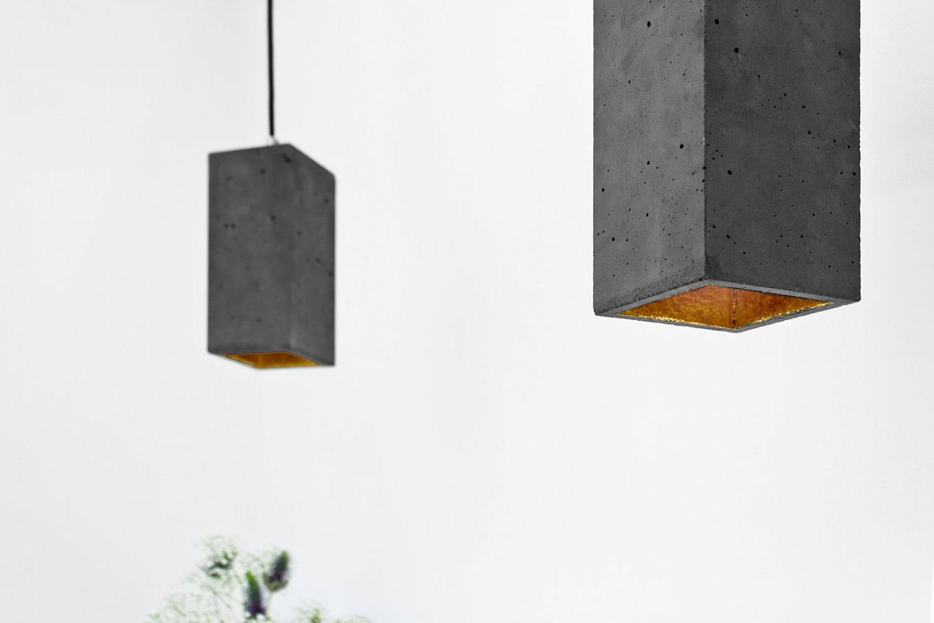 Concrete lighting fixtures