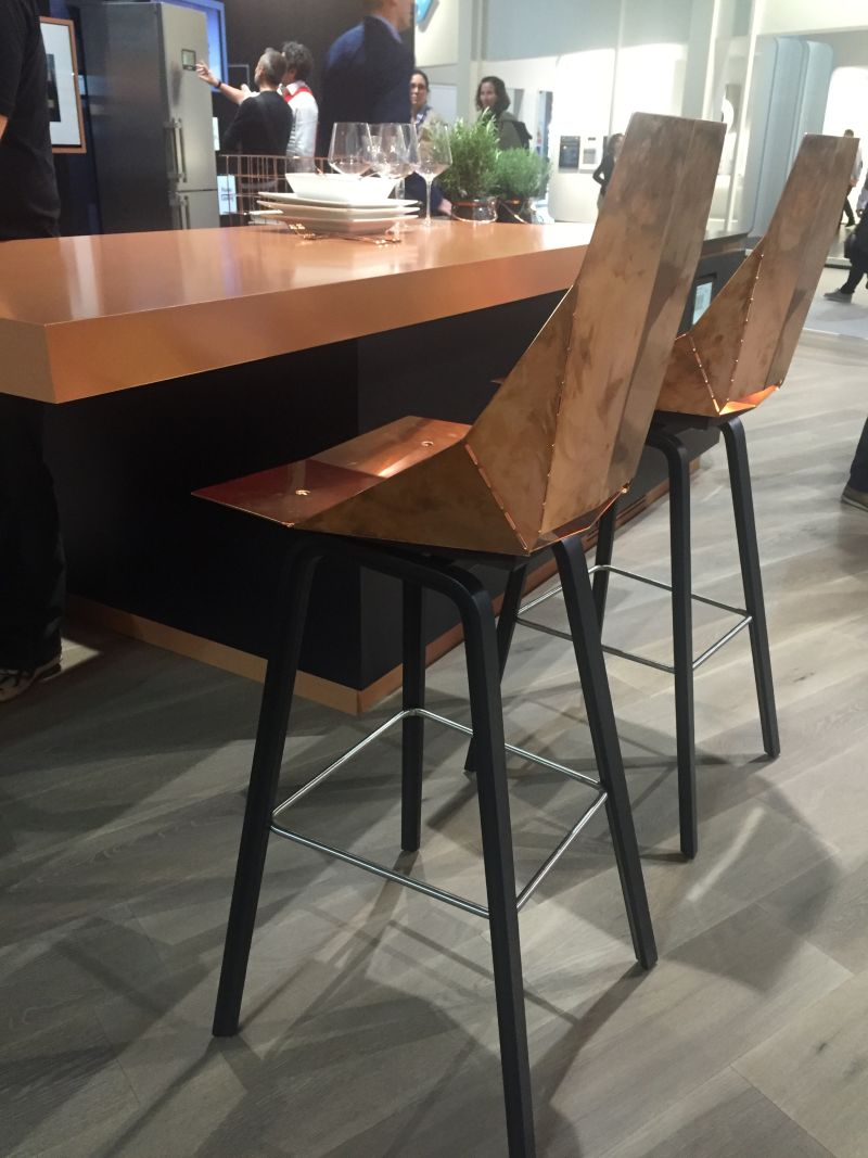 Copper chairs for kitchen bar & How To Make The Most Of A Bar Height Table