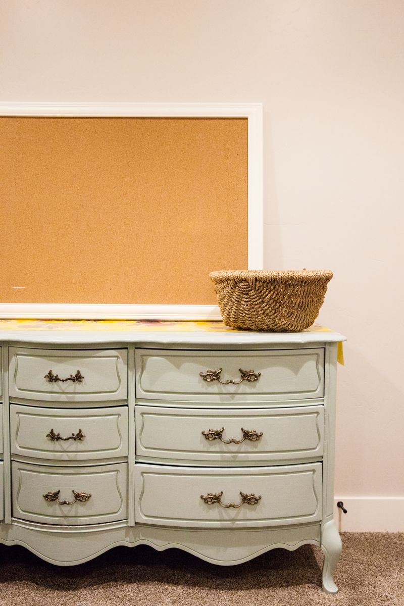 Cork board for kids room