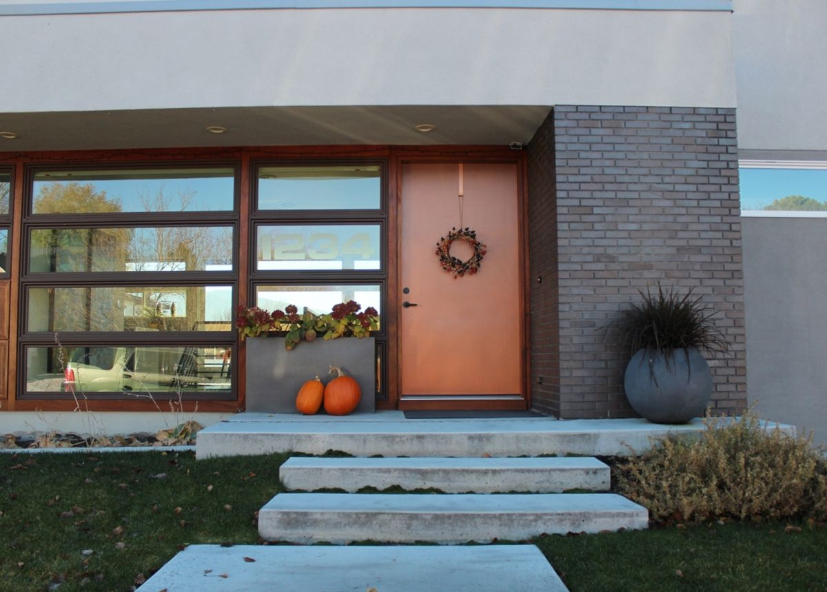 Curb Appeal on a Modern house Facade