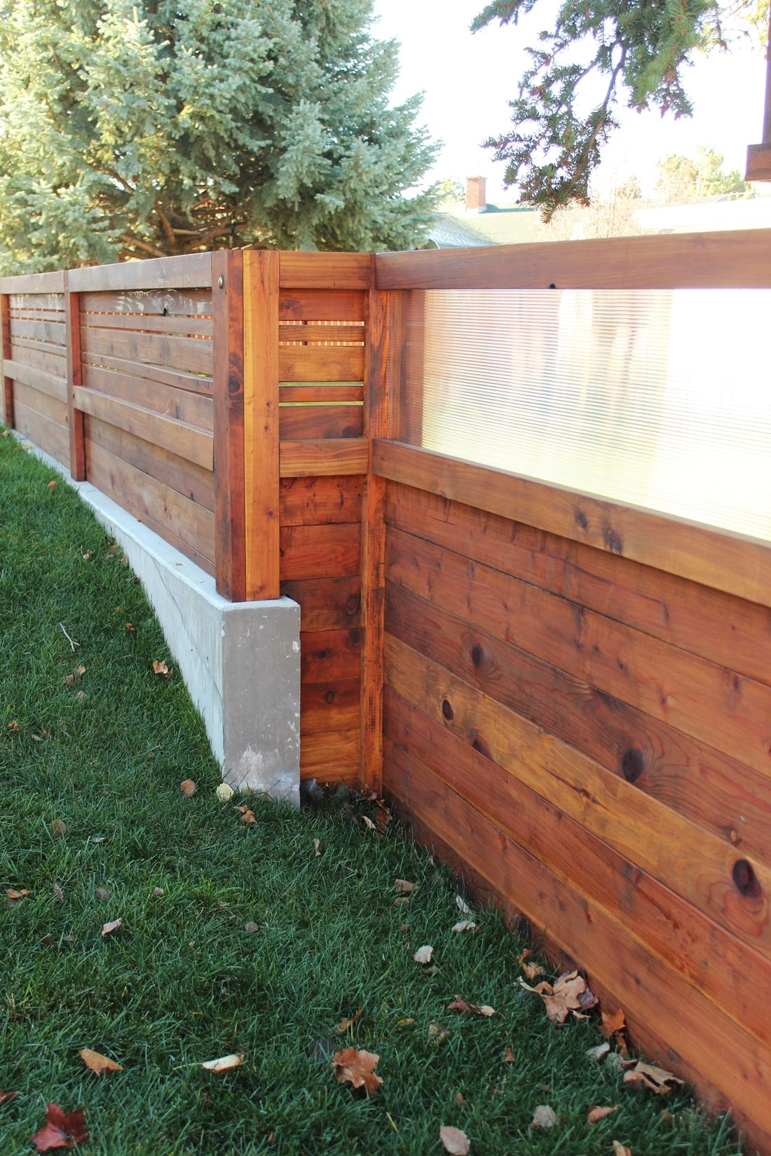 Curb Appeal - transition of materials in this fence
